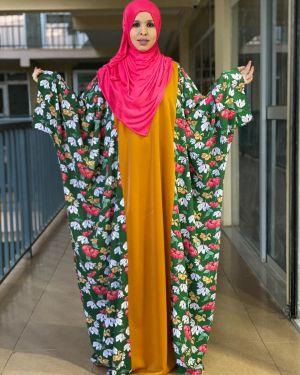 Hanifa floral pink dress