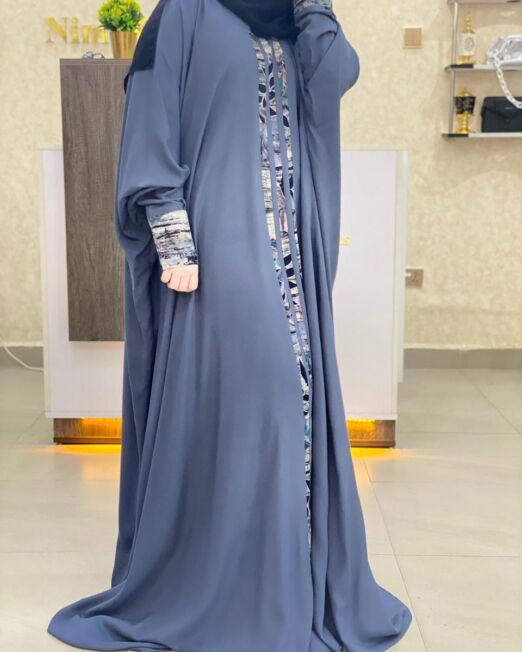 Plain grey qabow dress-3500 Kshs