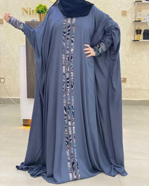 Plain grey qabow dress