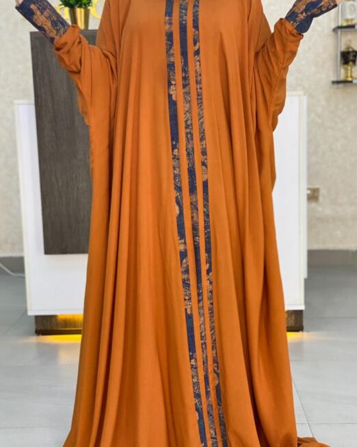 Plain orange qabow dress_3 3500Kshs