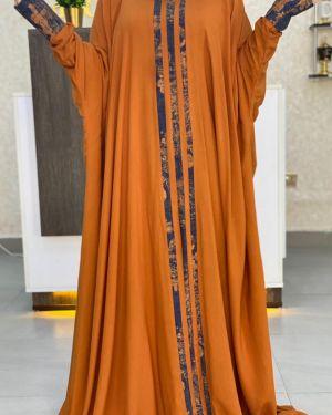 Orange qabow dress