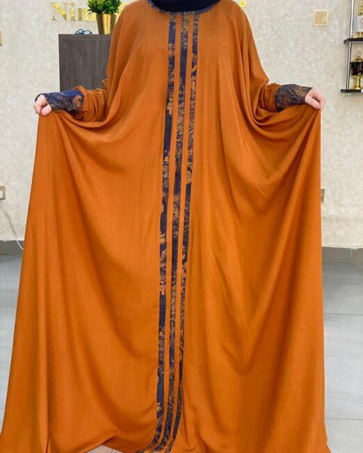 Plain orange qabow dress_4 3500Kshs