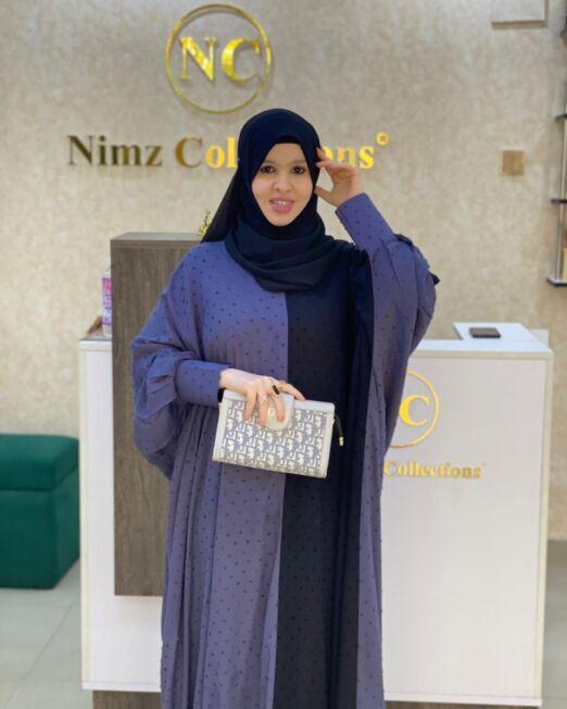 Grey MINA abaya 2
