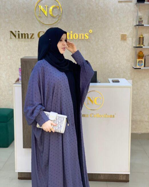 Grey MINA abaya