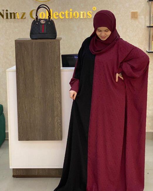 Maroon MINA abaya